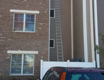 3 story association apartment gutter services in NJ
